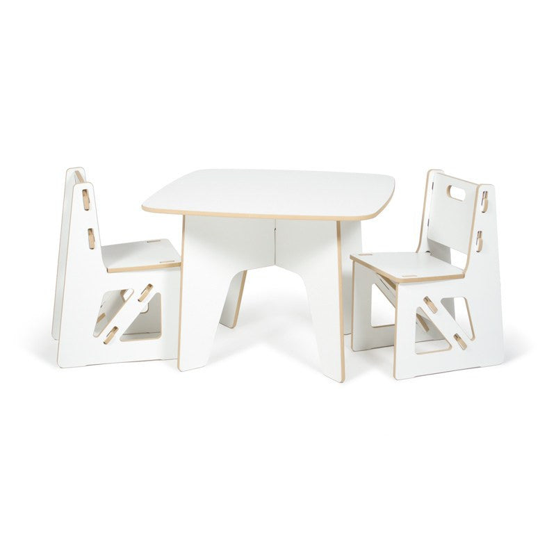 Kids White Table and Chairs