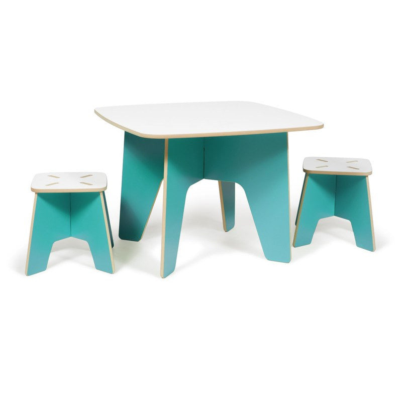 Aqua Kids Table and Stool, Modern Kids Play Table
