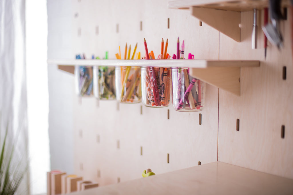 Modular Maker Space Pegboard Storage