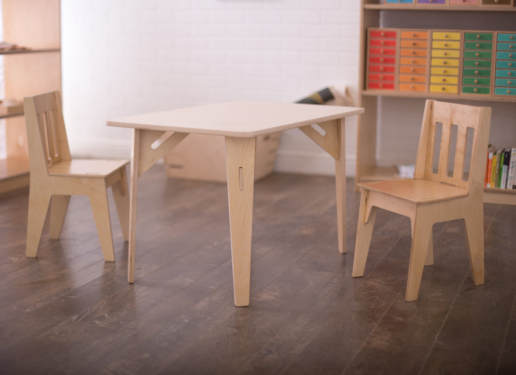 Wooden Kids Table And Chairs Sprout