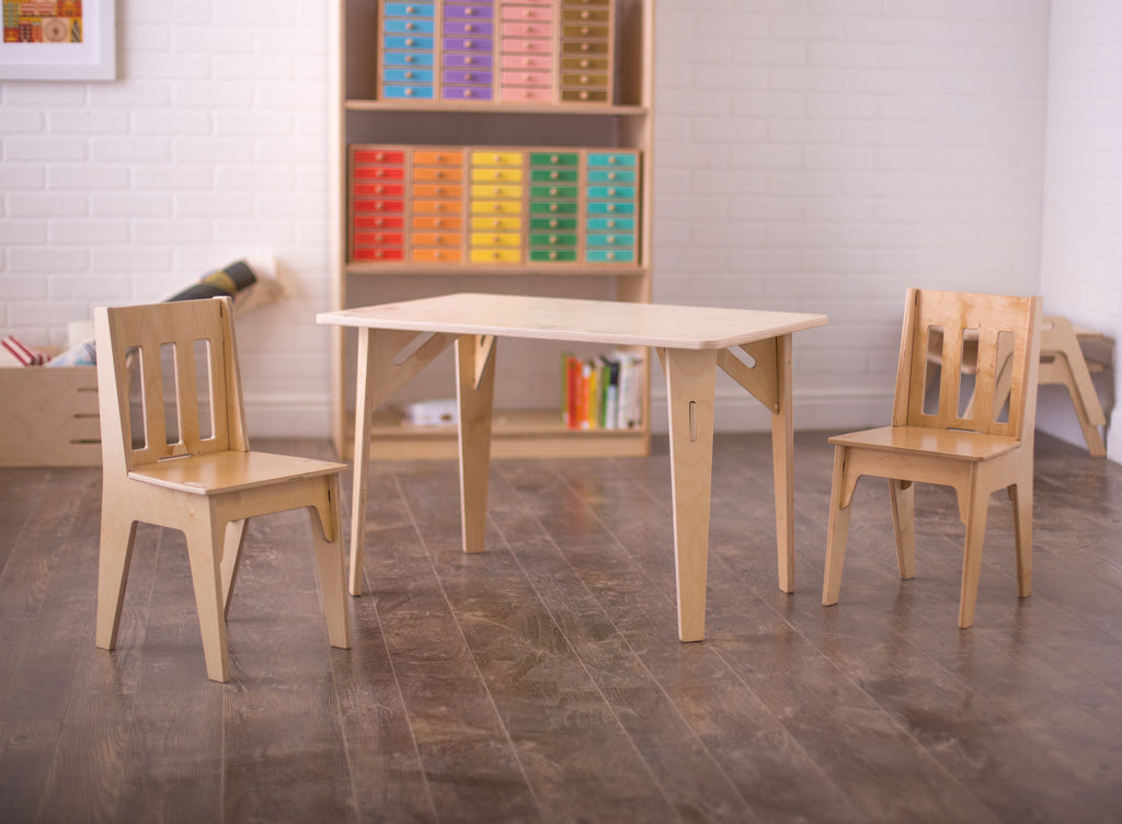 Wooden Kids Table and Chairs