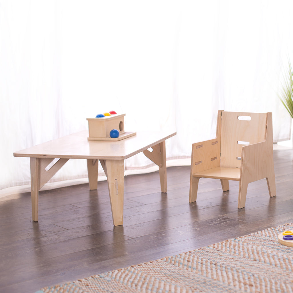 Awesome Adjustable Montessori Weaning Chair Table Set Theyellowbook Wood Chair Design Ideas Theyellowbookinfo