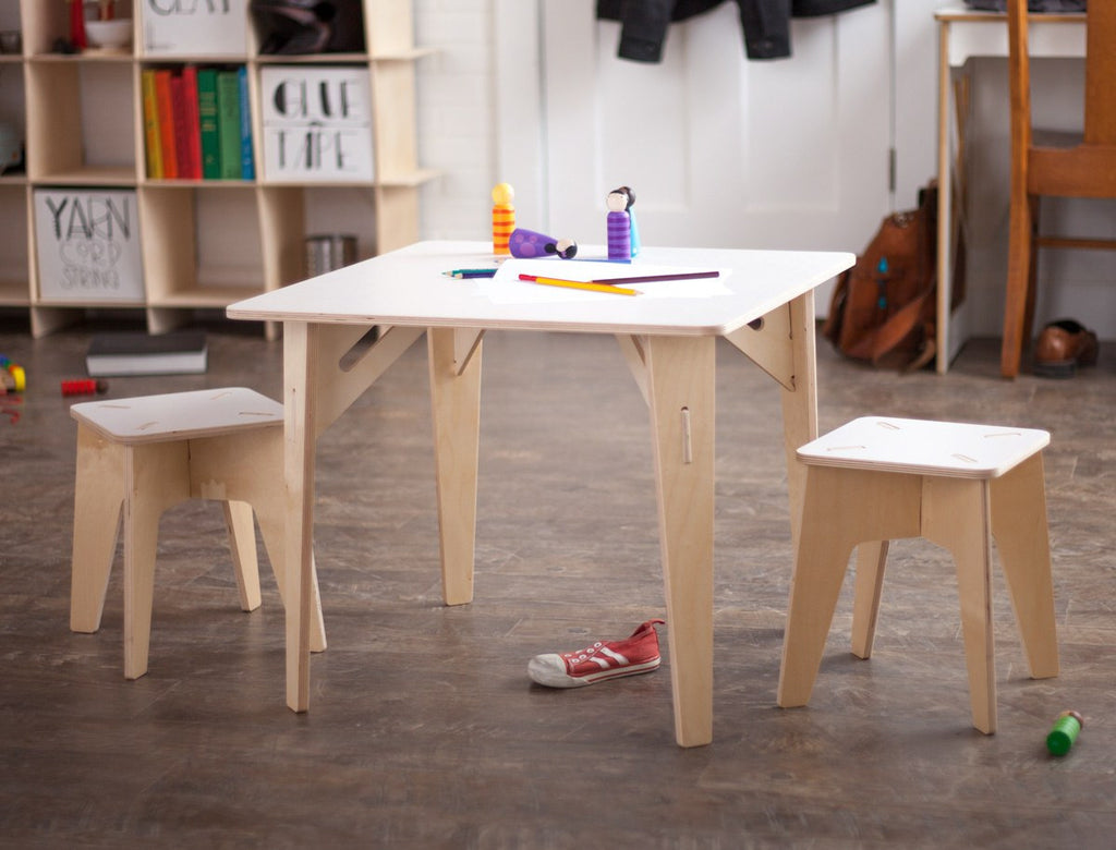 Wooden Kids Table and Stools