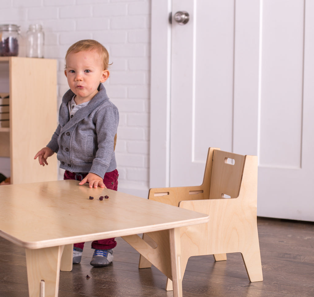 Adjustable Montessori Weaning Chair & Table Set