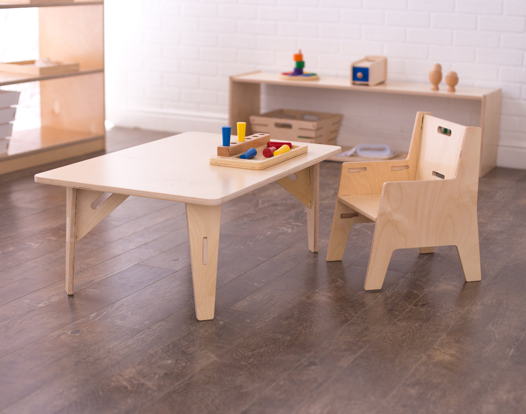 Value-Grade Adjustable Montessori Weaning Chair & Table Set