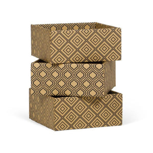 Diamond Print Decorative Storage Boxes