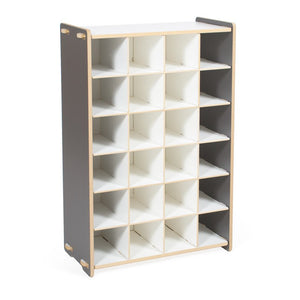 Modern Grey Shoe Cubby | Small Grey Shoe Shelf