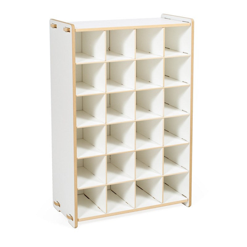 Modern White Shoe Cubby