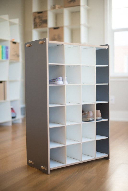 Grey Shoe Storage Organizer