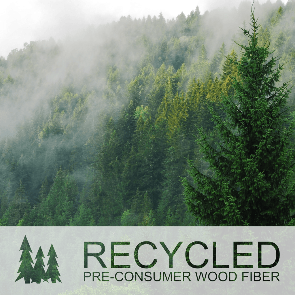 All Sprout MDF products made from recycled, pre-consumer wood fiber