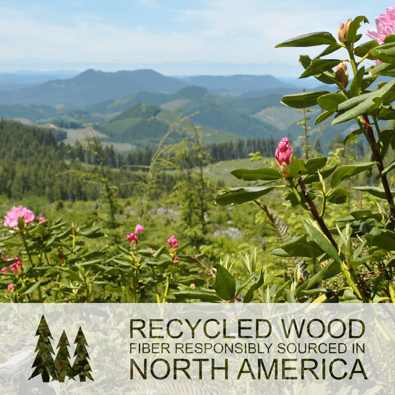 All Sprout MDF products made from recycled wood fiber resposibly sourced in North America