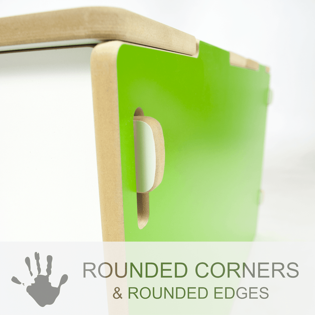 Modern Toy Box with child safe rounded corners and rounded edges