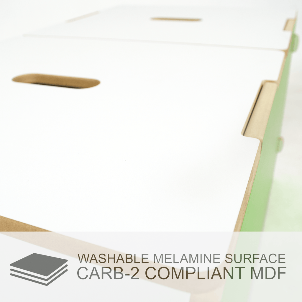 Modern Toy Box made from CARB-2 compliant MDF - Washable Melamine Surface