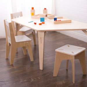 Trapezoid Birch Montessori Table