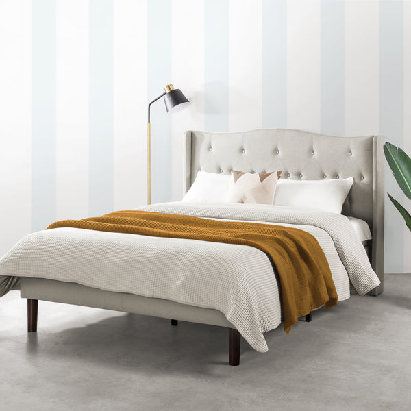 AMABEL Upholstered Platform Bed