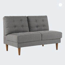 Load image into Gallery viewer, JULES Loveseat : Dark Grey Linen