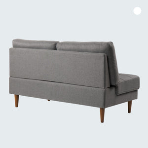 JULES Loveseat : Dark Grey Linen