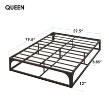 Load image into Gallery viewer, queen bed frame king size bed frame bed frame full folding bed frame full queen bed frame wood bed frames queen size mellow bed frame full size metal bed frame bed platform frame queen hybrid mattress full