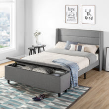 Load image into Gallery viewer, Grey queen bed frame king size bed frame bed frame full folding bed frame full queen bed frame wood bed frames queen size mellow bed frame full size metal bed frame bed platform frame queen hybrid mattress full California king