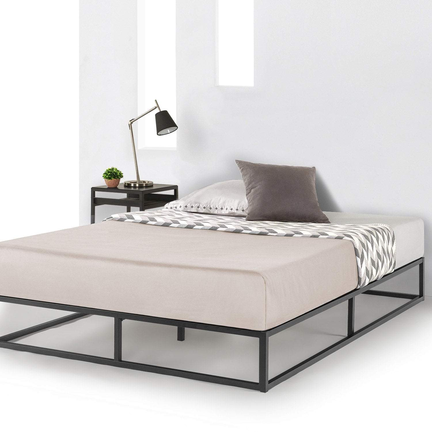 Modernista 10 Modern Low Profile Metal Bed Frame Mellow Home