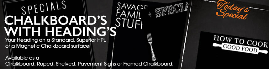 Chalkboards with your personal Heading | Blackboards with your personalised heading