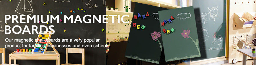 Magnetic Chalkboards blank or with your Logo, Personal Heading, General Artwork or Magnetic Family Planner