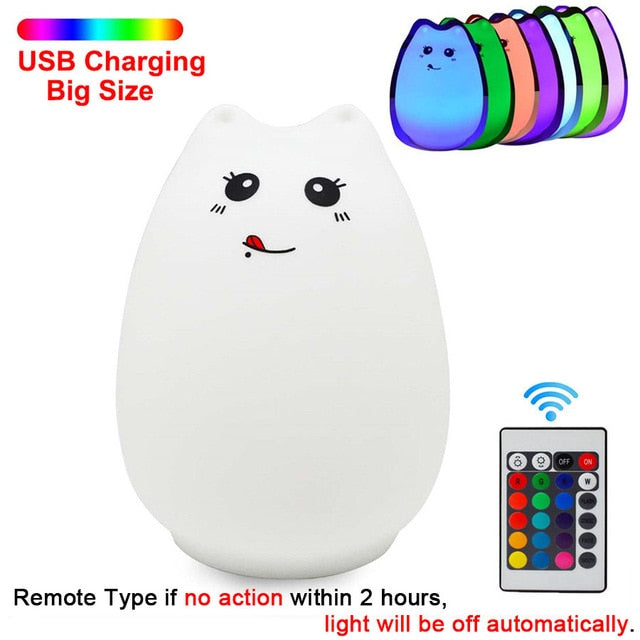 Squishy Cat Night Light