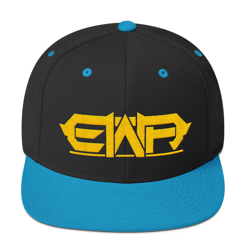 EWA Black & Teal Snapback Hat