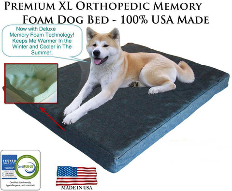 Memory Foam / GEL Memory Foam Pet Bed - Extra Large for Big Dogs & Bigger Dogs