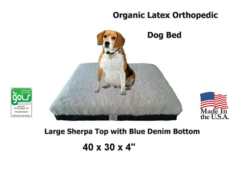 100% Organic Latex Orthopedic Pet Beds