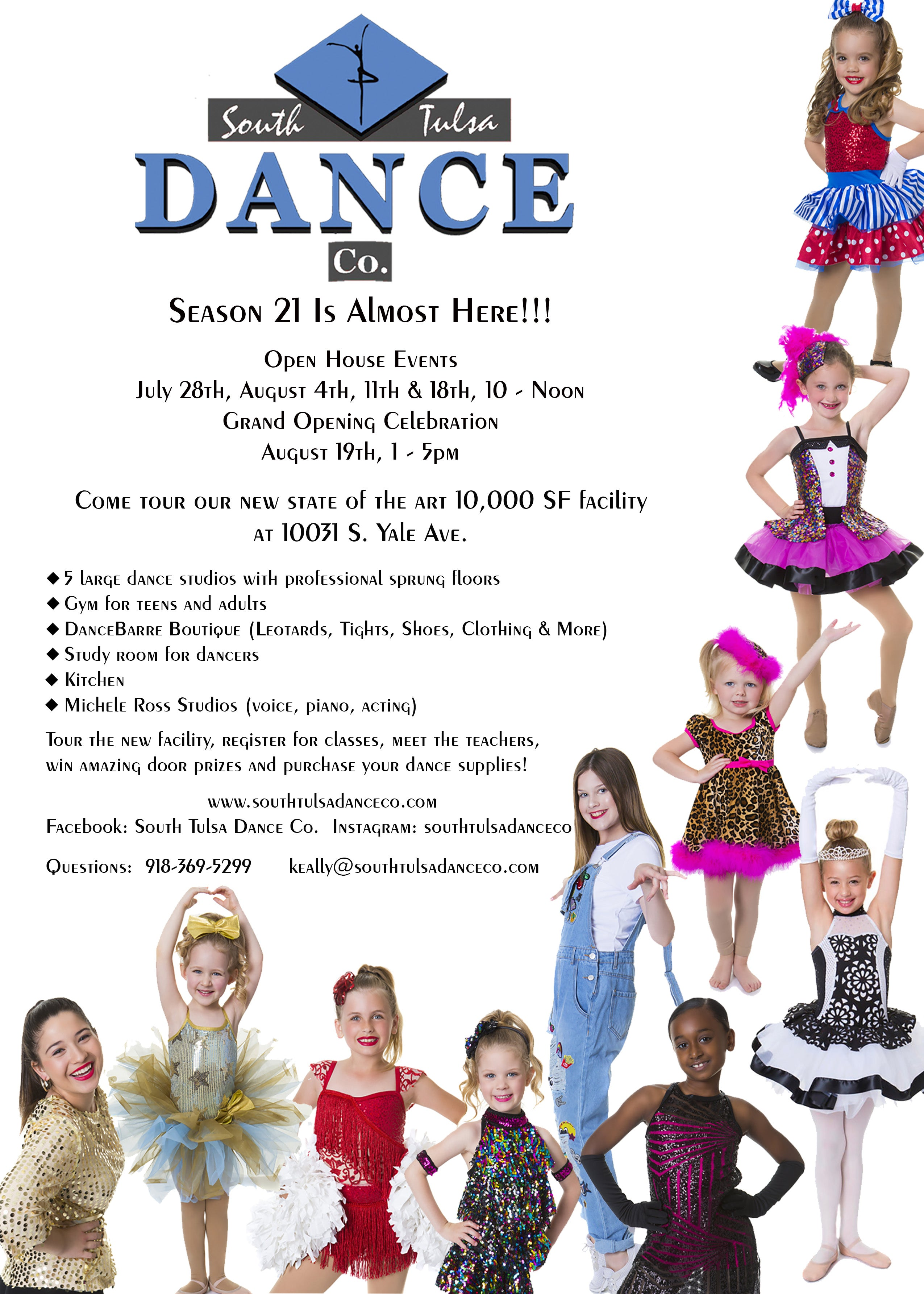 South Tulsa Dance Co. Open House Flyer