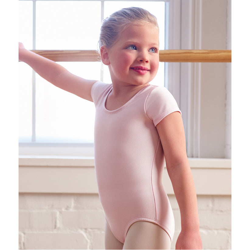 Ovation® Short Sleeve Leotard - Pink, South Tulsa Dance Co.
