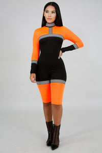 a2d6400dbdc2 Neon sporty Romper - The slay clothing brand