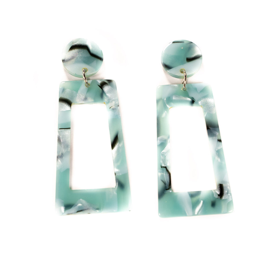 Oh D'Earrings - Aqua Blue