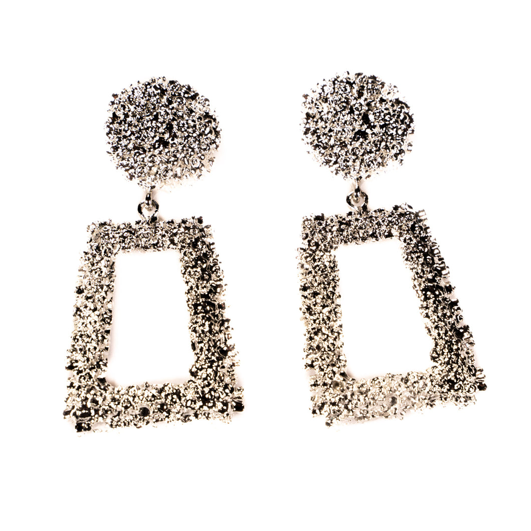 Vintage Statement Earring - Silver