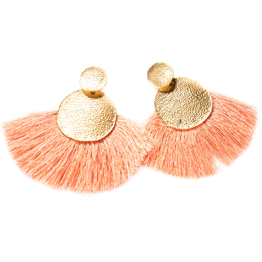 Tassel Statement Earrings - Rosé