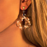 Rose Bead Earrings