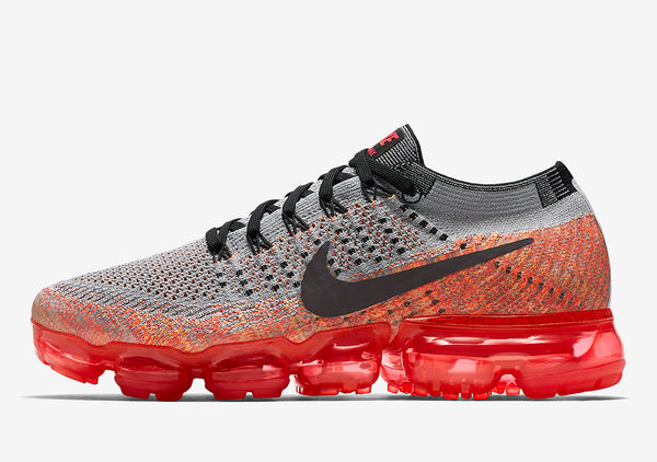 WMNs NIKE VAPORMAX GREY AND CRIMSON; 849557-026