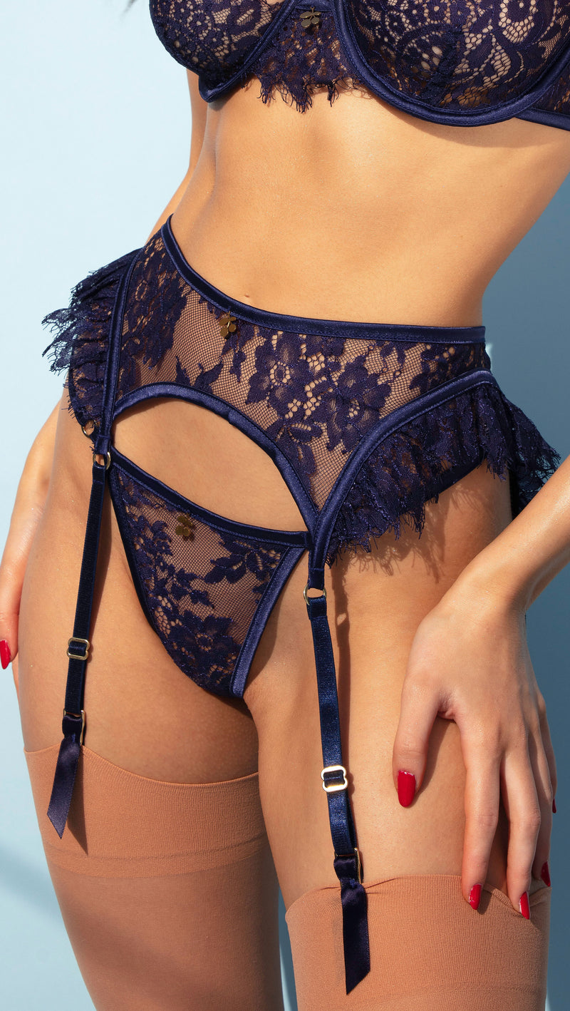 NAVY BLUE CHERRY<br>THONG