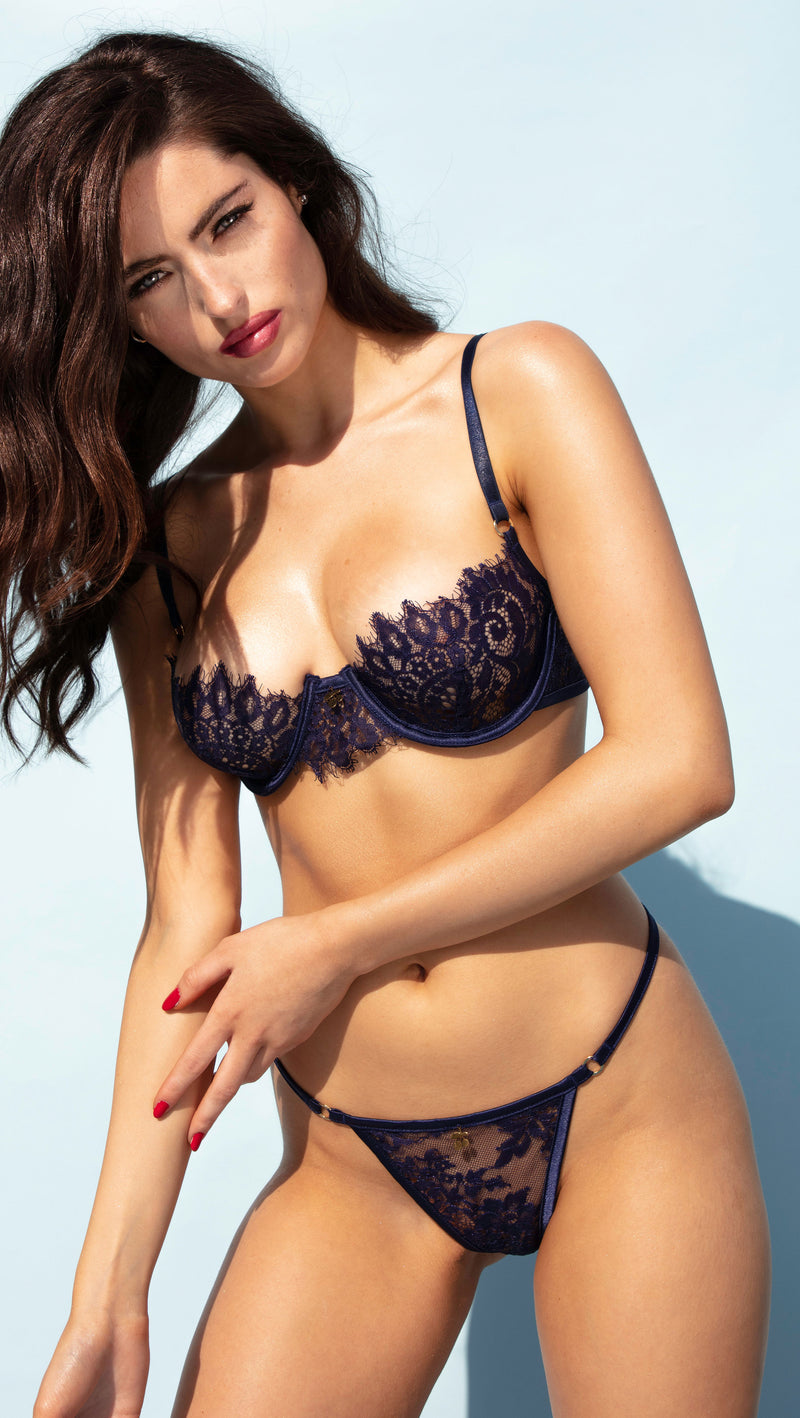 NAVY BLUE CHERRY<br>BRA