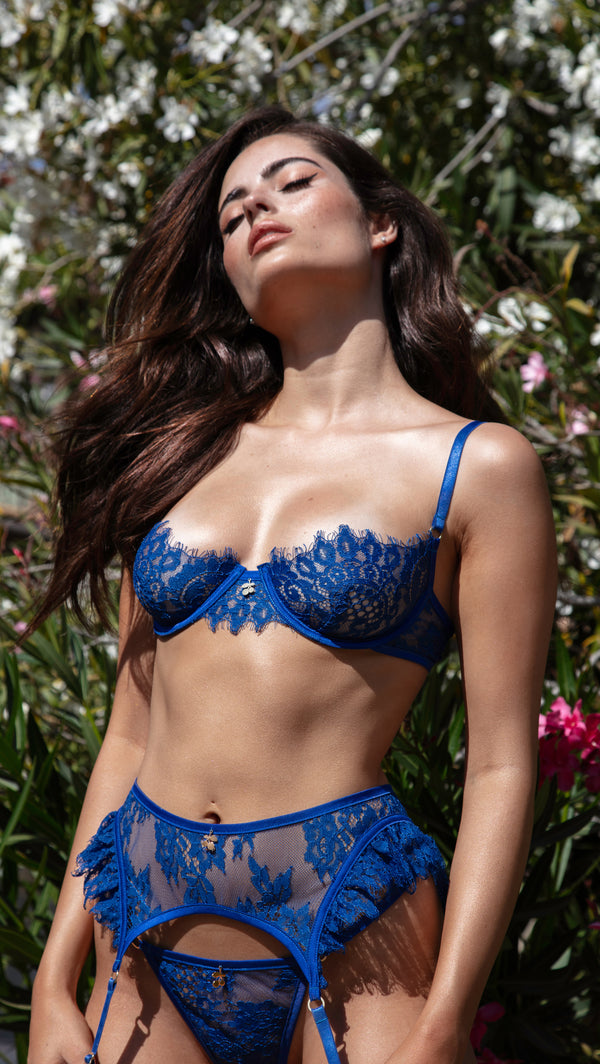 BLUE CHERRY<br>GARTER BELT