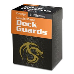 BCW Deck Guard Boxed Sleeves (80) Orange