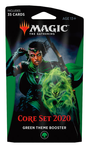 Magic The Gathering: Core Set 2020 Green Theme Booster