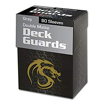 BCW Deck Guard Boxed Sleeves (80) Gray