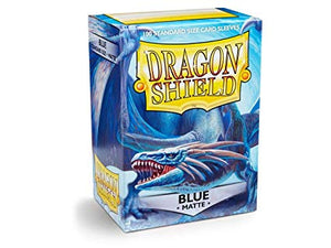 Dragon Shield Blue Matte 100 Protective Sleeves