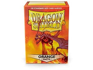 Dragon Shield Orange Matte 100 Protective Sleeves