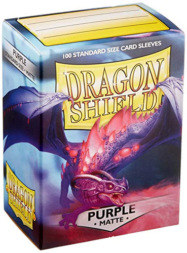 Dragon Shield Purple Matte 100 Protective Sleeves