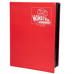 Monster 4-Pocket Folder Red Matte