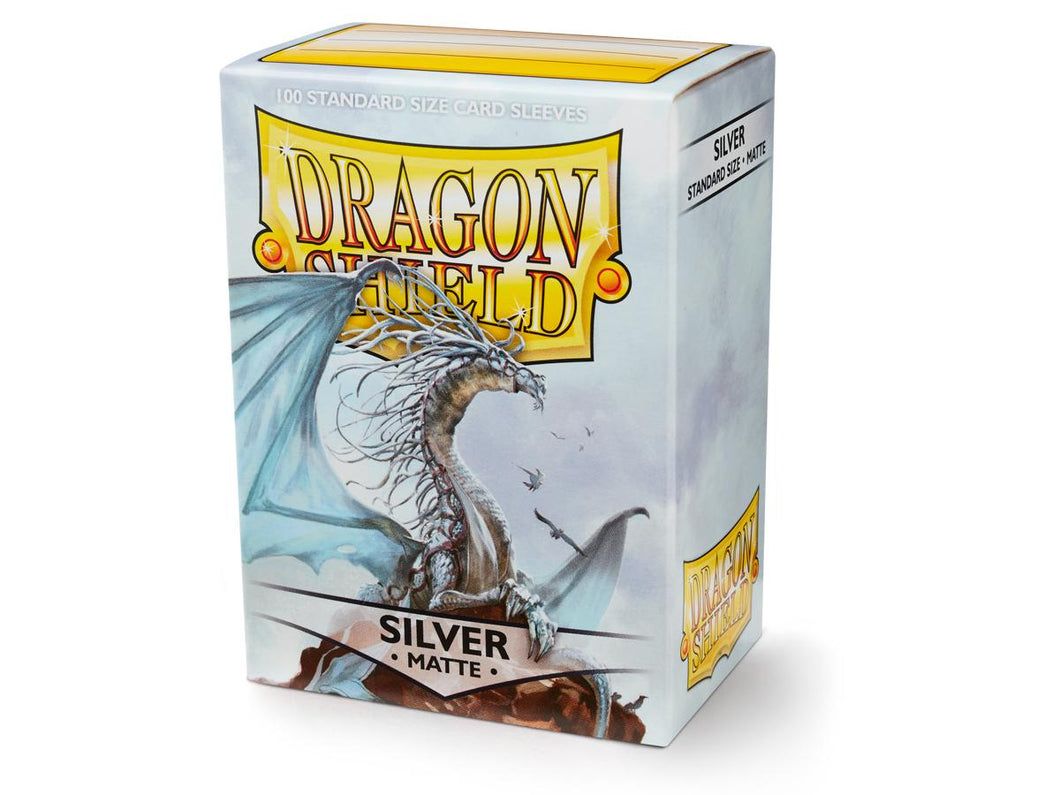 Dragon Shield Silver Matte 100 Protective Sleeves