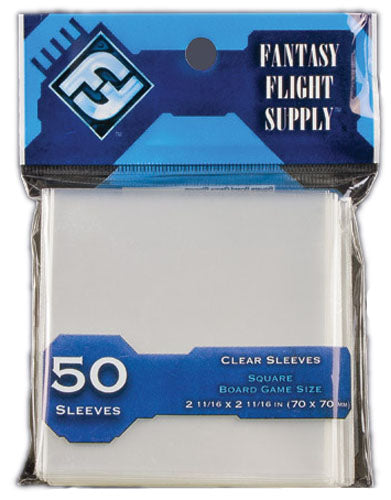 Card Sleeves Square Display Clear